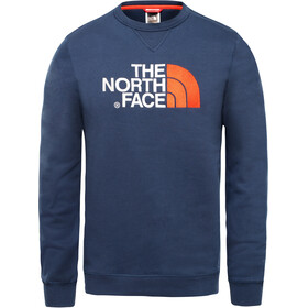 The North Face Drew Peak Pull à col ras-du-cou Homme, urban navy/fiery red